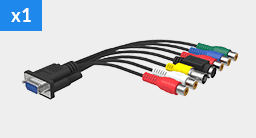 DB9 to コンポジット、S-Video、コンポーネント、アナログオーディオ用ブレークアウトケーブル